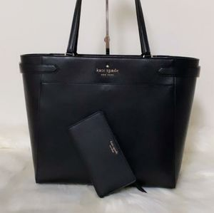 ⚜KATE SPADE STACI LAPTOP TOTE AND WALLET S…